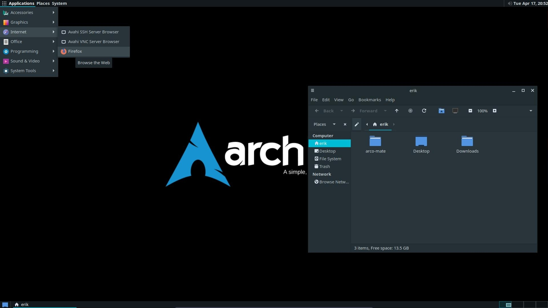 Airvpn on arch linux