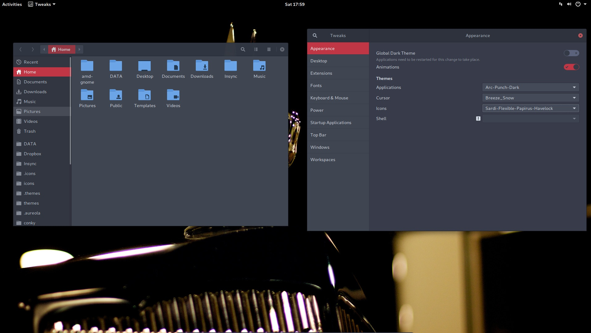 2 How to change icons, themes and cursors in ArcoLinuxD Gnome