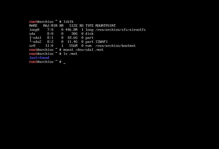 5 The actual installation of Arch Linux Phase 1 BIOS
