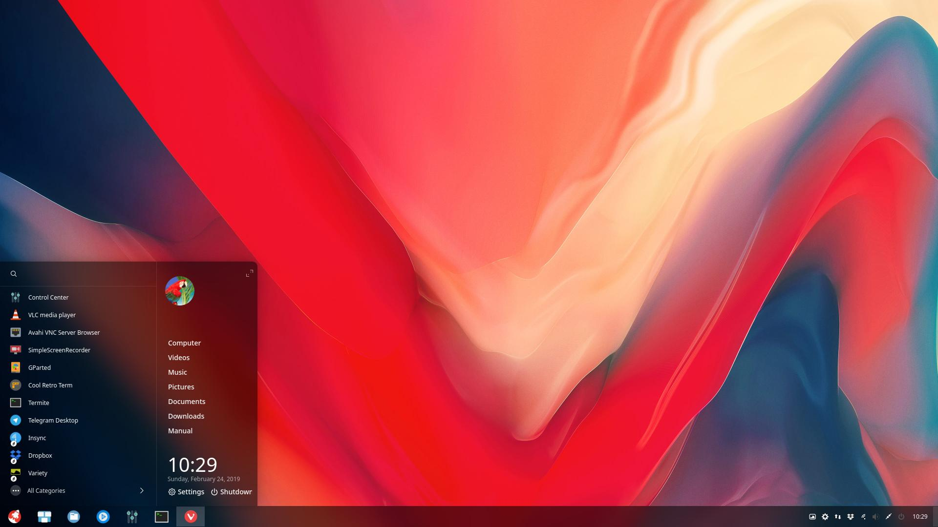 10 changing the look of the menu or the dock in deepin | Arcolinuxd com
