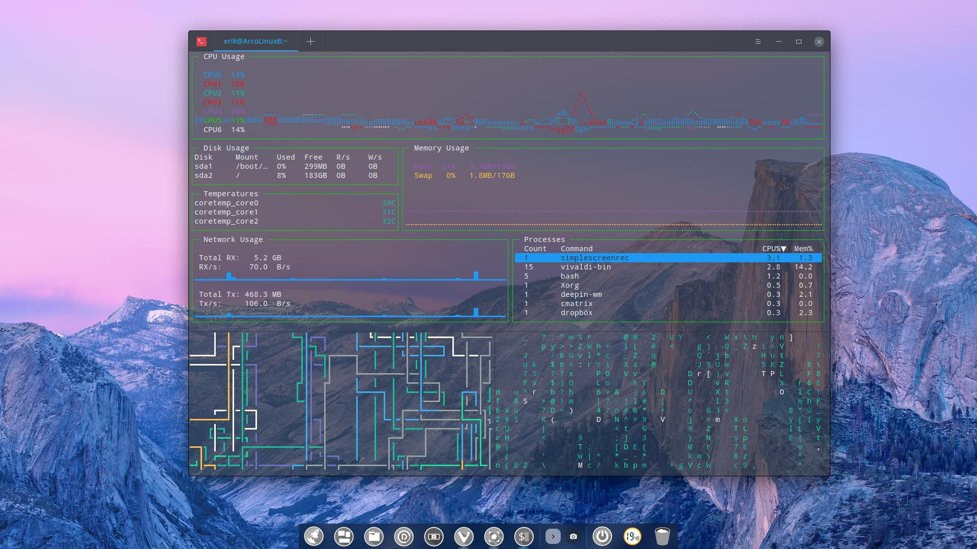 8 Getting to know the deepin terminal | Arcolinuxd com