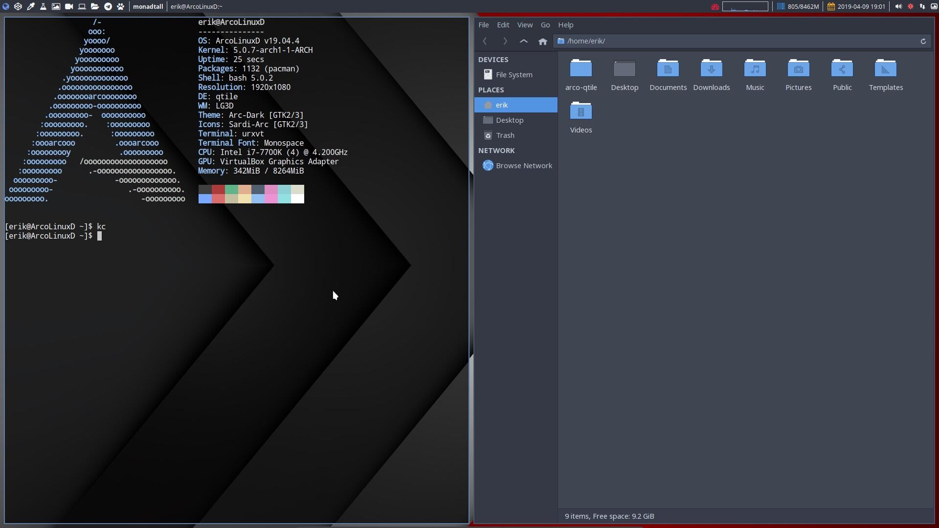 1 Installation of ArcoLinuxD Qtile | Arcolinuxd com